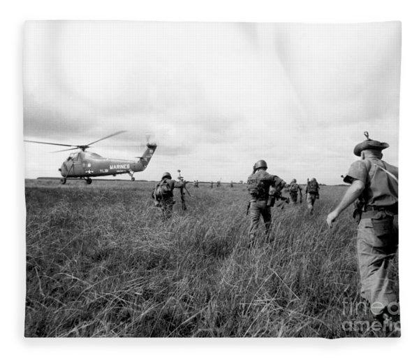 Vietnam War Fleece Blanket