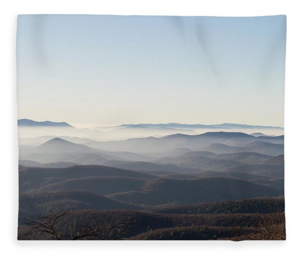 View From Blood Mountain Fleece Blanket