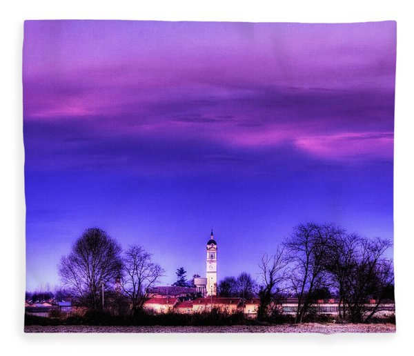 View Of San Giorgio Lomellina Fleece Blanket