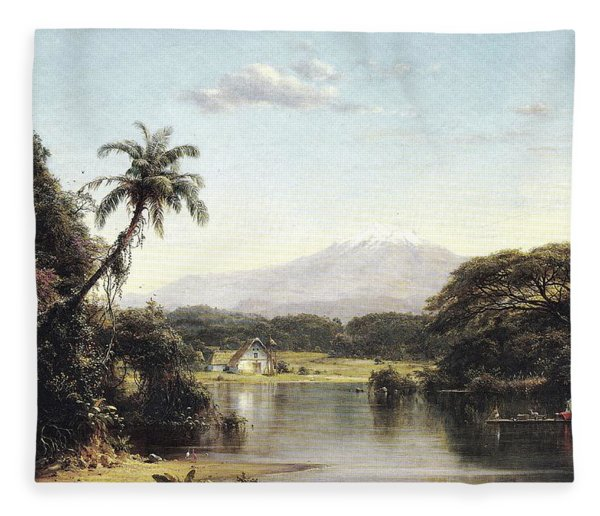 View On The Magdalena River Fleece Blanket