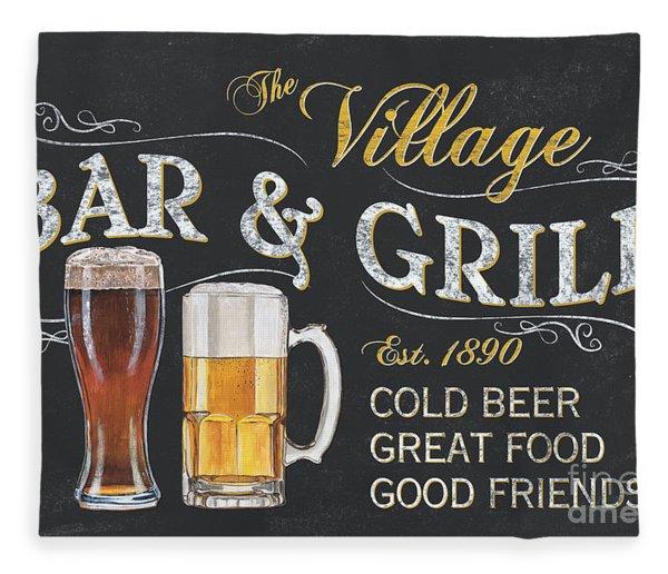 Village Bar And Grill Fleece Blanket