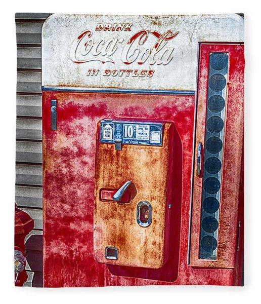 Vintage Coca-cola Machine 10 Cents Canvas Print,photographic Print,art Print,framed Print, Fleece Blanket