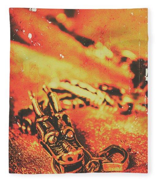 Vintage Dragon Charm Fleece Blanket