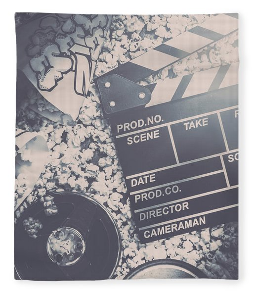 Vintage Film Production Fleece Blanket