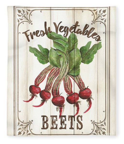 Vintage Fresh Vegetables 1 Fleece Blanket