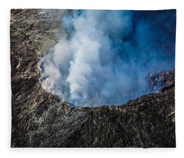 Another View Of The Kalauea Volcano Fleece Blanket