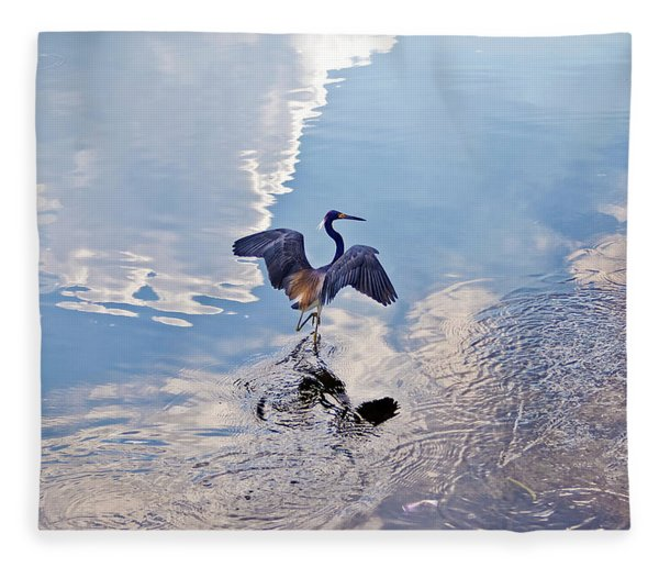 Fleece Blanket featuring the photograph Walking On Water by Carolyn Marshall
