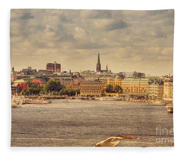 Warm Stockholm View Fleece Blanket