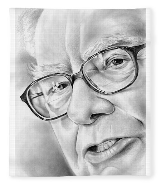 Warren Buffett Fleece Blanket
