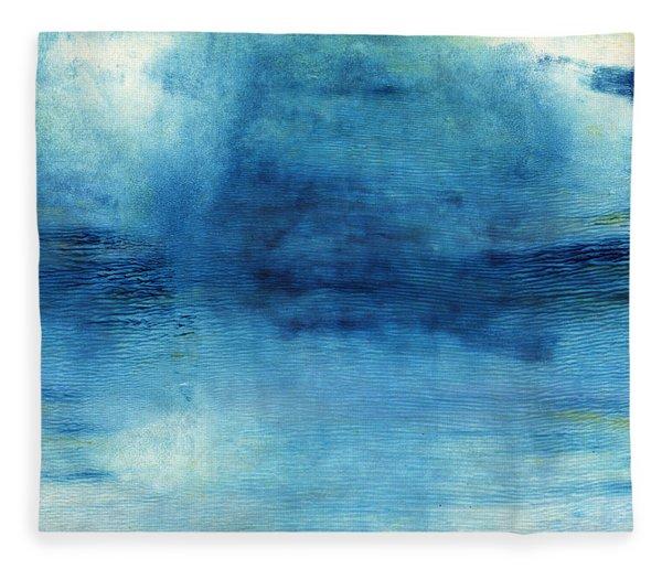 Wash Away- Abstract Art By Linda Woods Fleece Blanket
