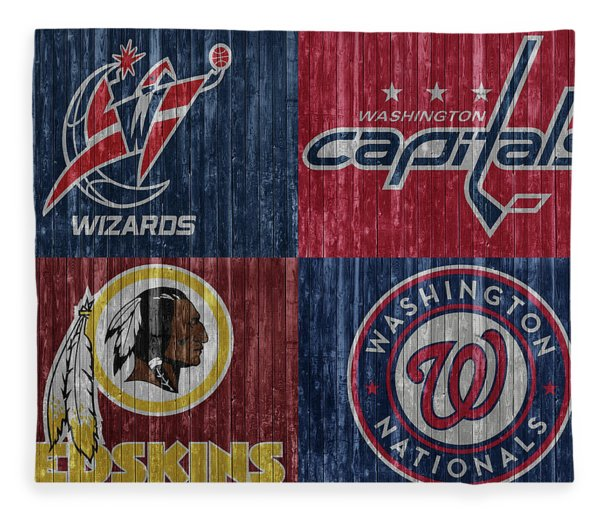 Washington Dc Sports Teams Fleece Blanket