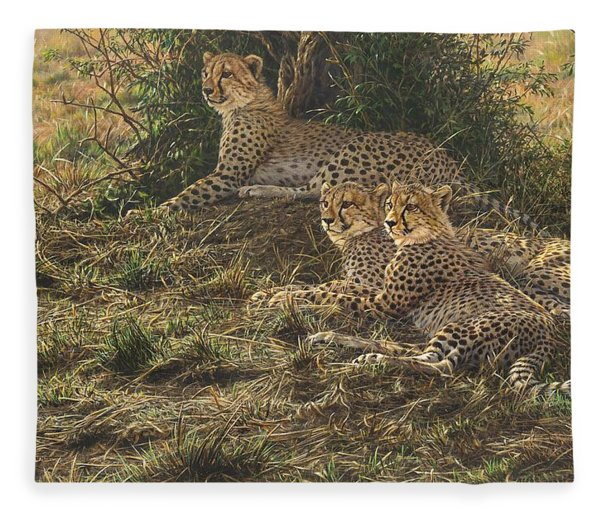 Fleece Blanket featuring the painting Watching Mam by Alan M Hunt