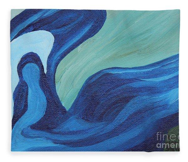Water Spirit Fleece Blanket