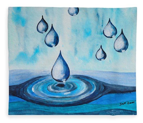 Waterdrops Fleece Blanket