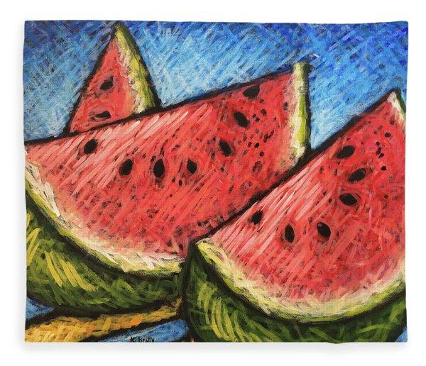 Watermelon Summer Fleece Blanket