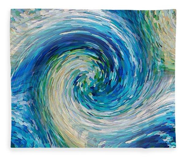 Wave To Van Gogh II Fleece Blanket