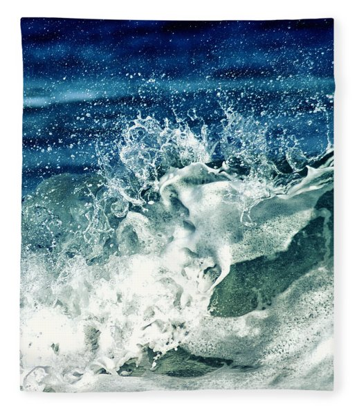 Wave2 Fleece Blanket