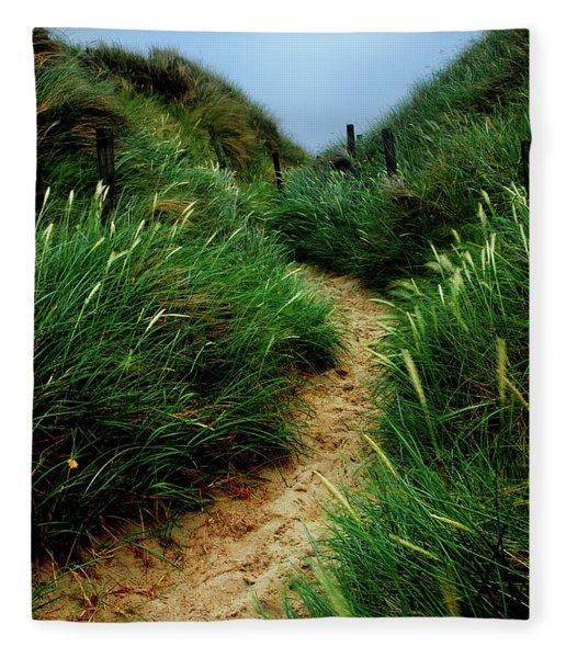 Way Through The Dunes Fleece Blanket