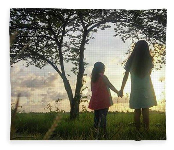 Childhood And Friendship Fleece Blanket