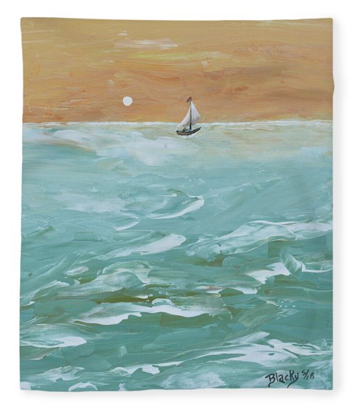 We Sail At Dawn Fleece Blanket