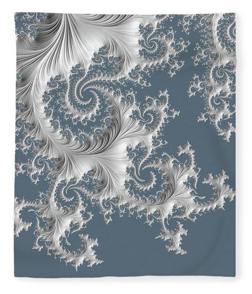 Fleece Blanket featuring the digital art Wedgwood by Susan Maxwell Schmidt
