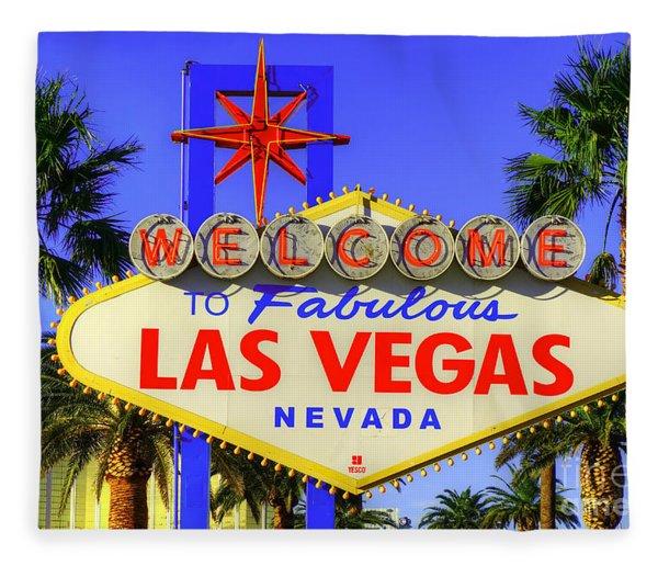 Welcome To Las Vegas Fleece Blanket