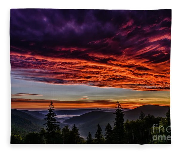West Virginia Highland Dawn Fleece Blanket