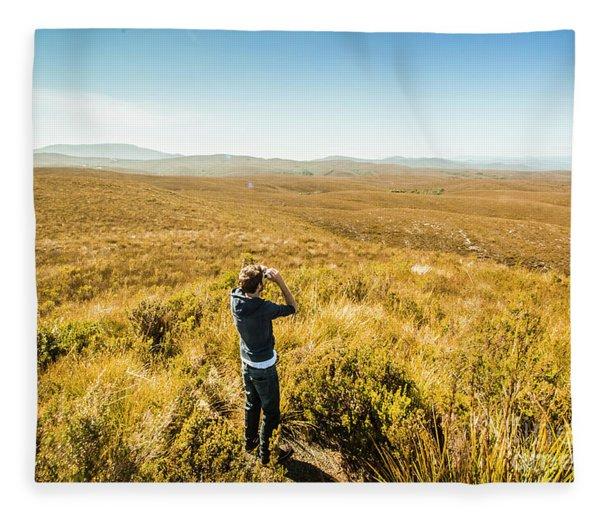 Western Plains Of Tasmania Fleece Blanket