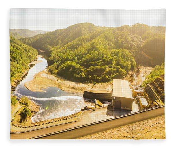 Western Wilderness Hydro Dam Fleece Blanket