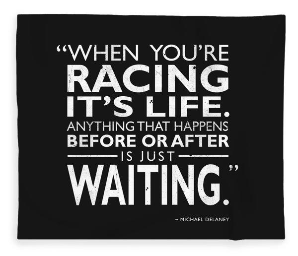 When Youre Racing Its Life Fleece Blanket