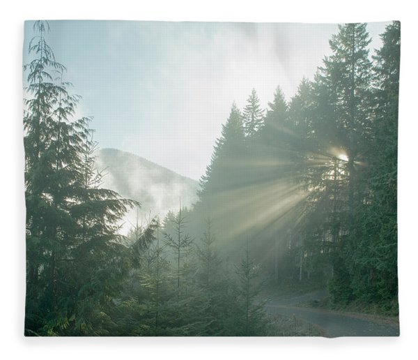 Where Will Your Road Take You? Fleece Blanket