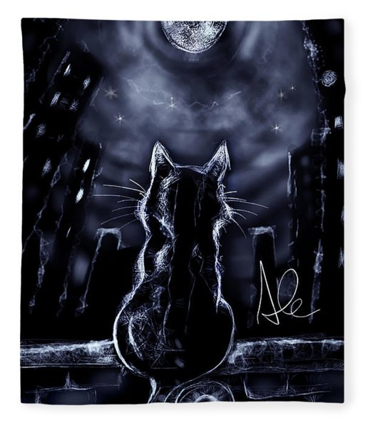 Whispering To The Moon Fleece Blanket