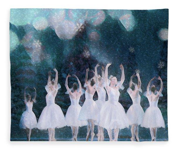 White Night Fleece Blanket