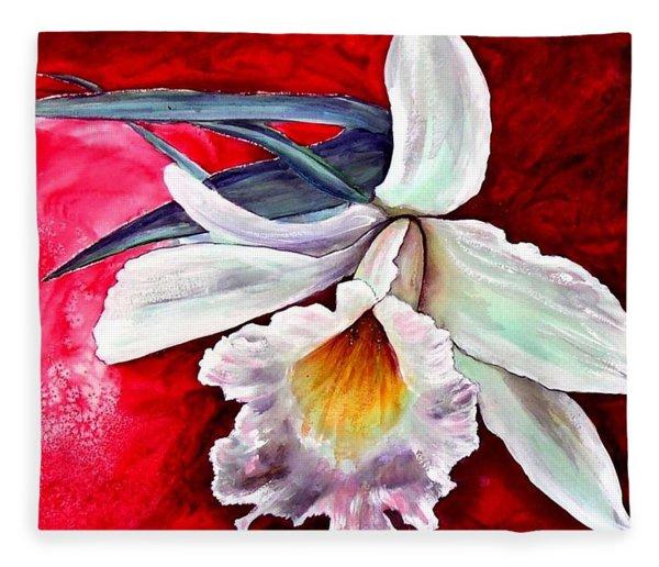 White Orchid Fleece Blanket