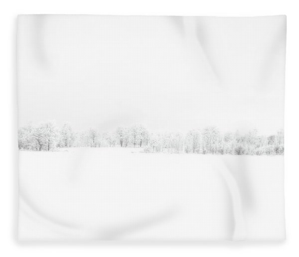 White Out Fleece Blanket