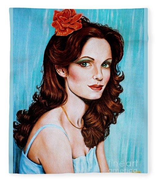 Flower In Her Hair Fleece Blanket
