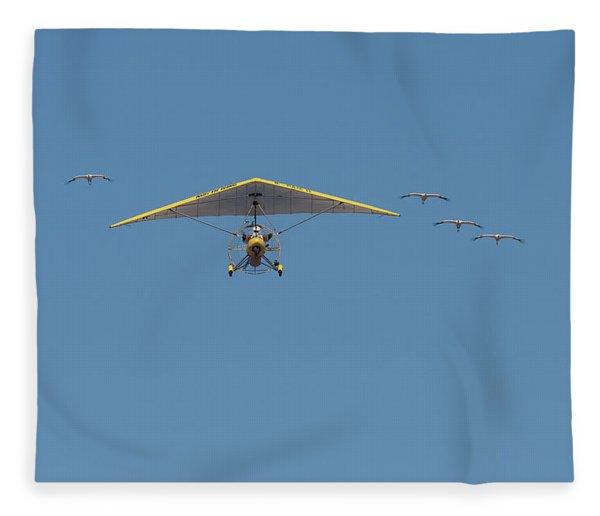 Whooping Cranes And Operation Migration Ultralight Fleece Blanket