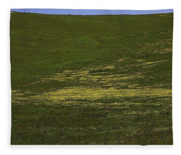 Wildflower Hillside Fleece Blanket