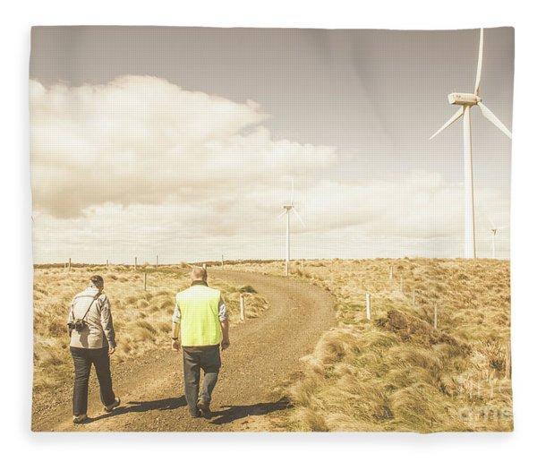 Wind Power Travel Tour Fleece Blanket