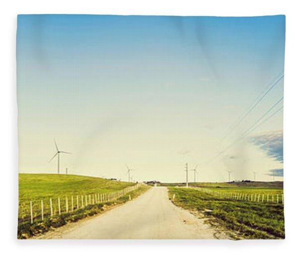 Windfarm Way Fleece Blanket