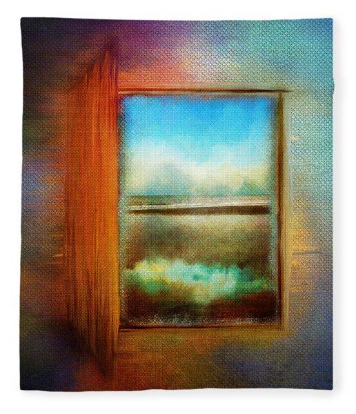 Window To Anywhere Fleece Blanket