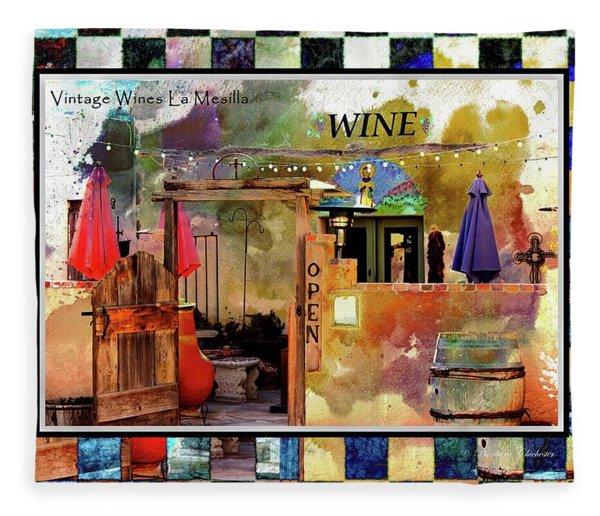 Wine Bar Southwest Style Fleece Blanket
