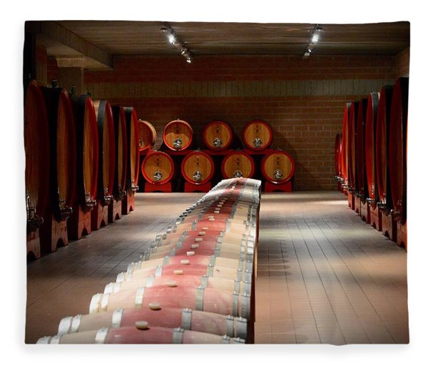 Wine Cellar In Montalcino Fleece Blanket