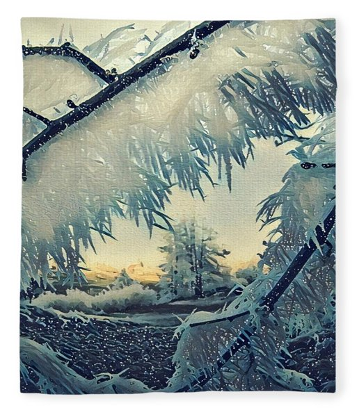 Fleece Blanket featuring the photograph Winter Magic by Colette V Hera Guggenheim