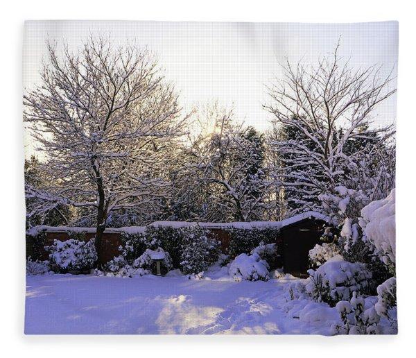 Winter Morning Fleece Blanket