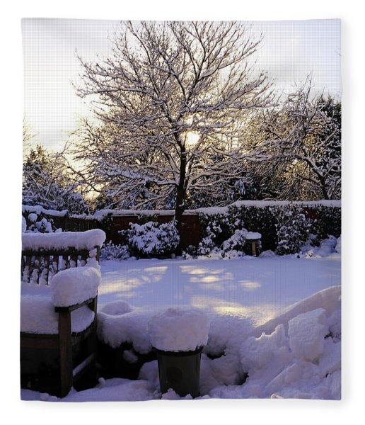 Winter Sunshine Fleece Blanket