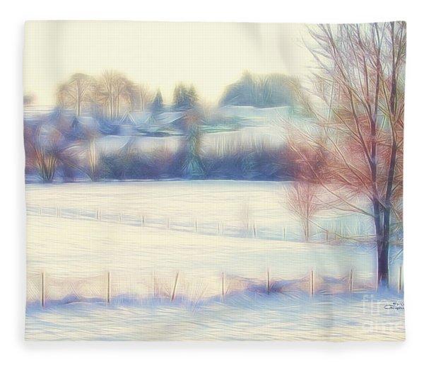 Winter Village Fleece Blanket