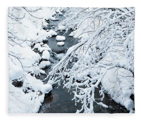 Winters Creek- Fleece Blanket