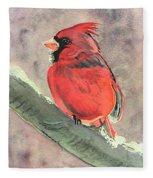 Wintery Red Fleece Blanket
