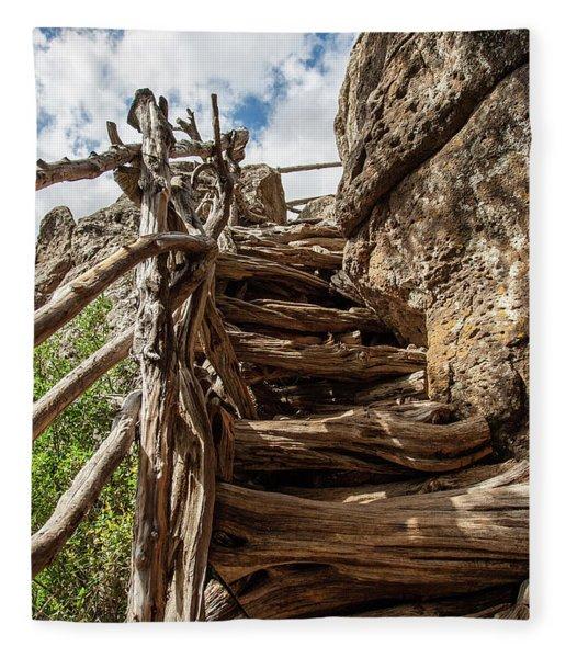 Wooden Ladder Fleece Blanket